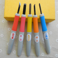 5pcs Set Rubber Stamp Carving Tools Diy Sculpture Necessary Tool