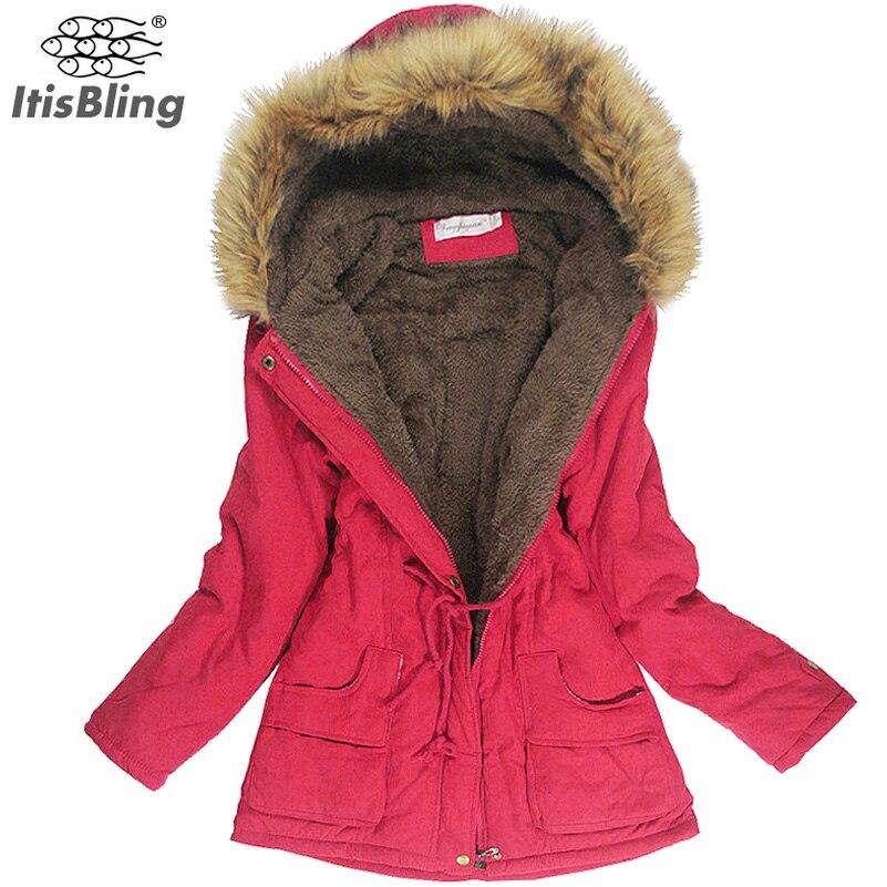 Winter Jacket Women Faux Fur Collar Womens Coats Long Down Parka Plus Size Lady Hoodies Parkas Warmer Classical Jackets Hot Sale