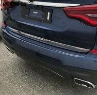 Para bmw x3 2018 2019 chrome tronco traseiro streamer cauda porta de moldagem guarnição decoração tira exterior acessórios do carro estilo|Estilo de cromo| |  -