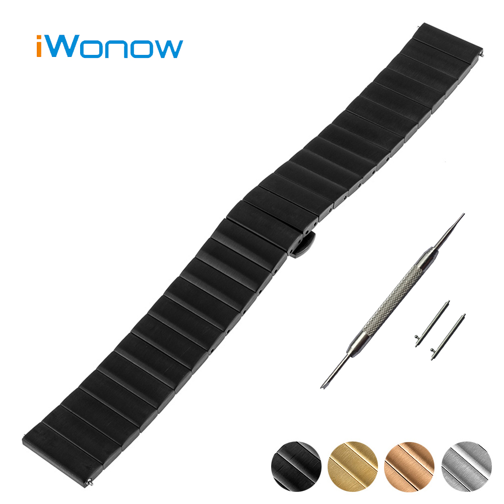 Stainless Steel Watch Band 18mm 20mm for DW Daniel Wellington Quick Release Strap Butterfly Buckle Wrist Belt Bracelet + Tool