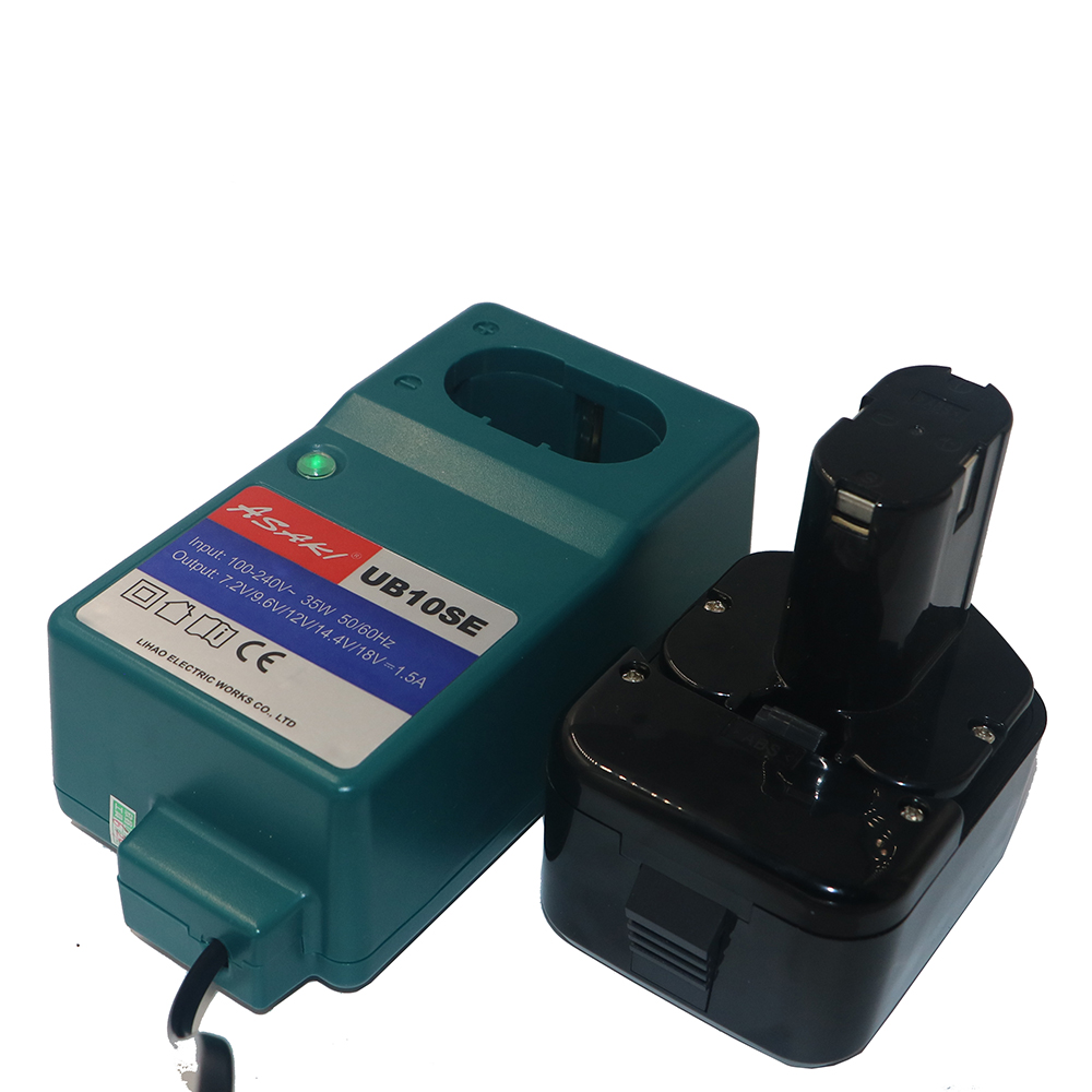 New 12V Ni-MH 3.0Ah Rechargeable Battery with Charger for Hitachi EB1212S EB1214L EB1214S EB1230,EB1230H,EB1230X,EB1233X 323226