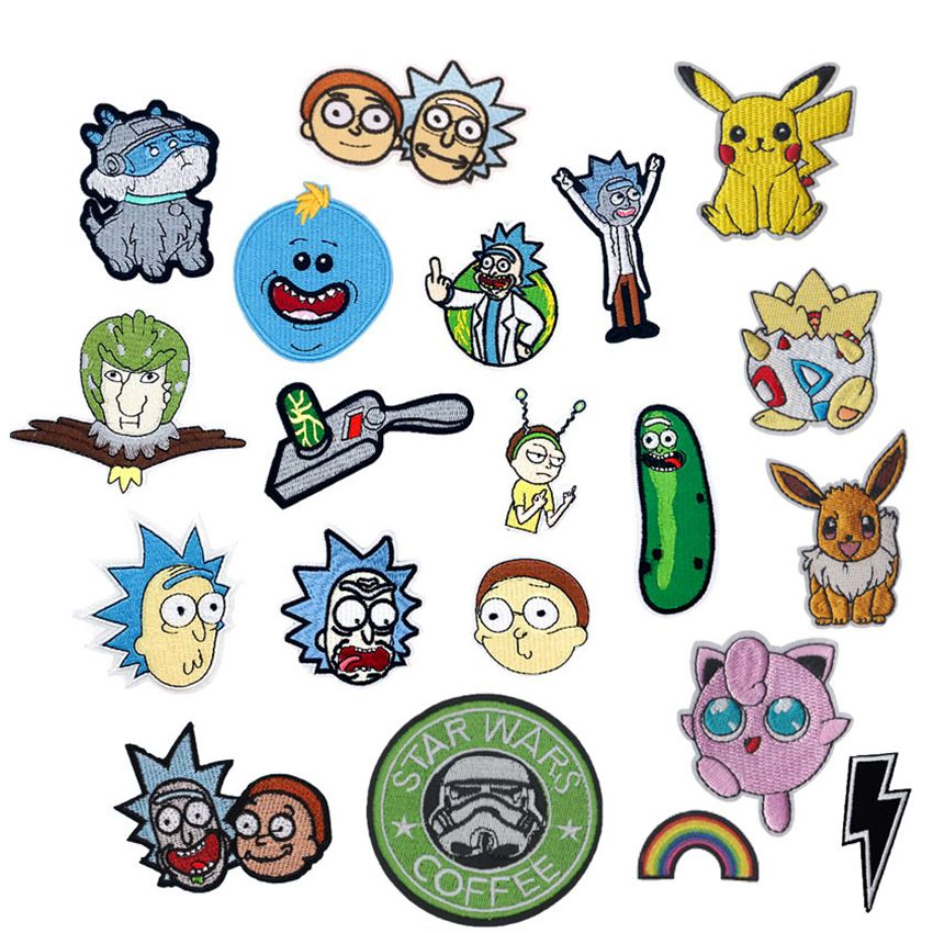 pikachu-font-b-pokemon-b-font-star-wars-rick-and-morty-patch-embroidered-applique-iron-on-patch-design-diy-sew-iron-on-patch-badge-fill-holes