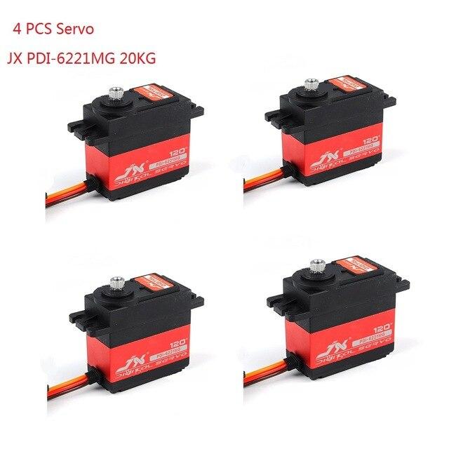 2019 نوي 4 PCS JX PDI 6221MG 20 KG عزم دوران كبير الرقمية Coreless مضاعفات ل RC سيارة الزاحف RC قارب هليكوبتر RC نموذج الجزء-في قطع غيار وملحقات من الألعاب والهوايات على  مجموعة 1