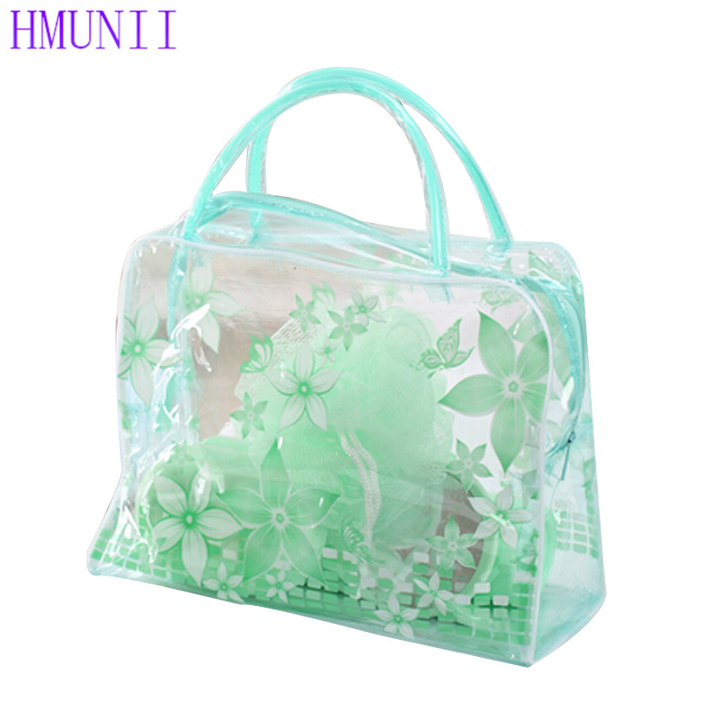 Color plastic Transparent Organizer bags Cosmetic Bags Makeup Casual Travel Waterproof Toiletry Wash Bathing Storage bags