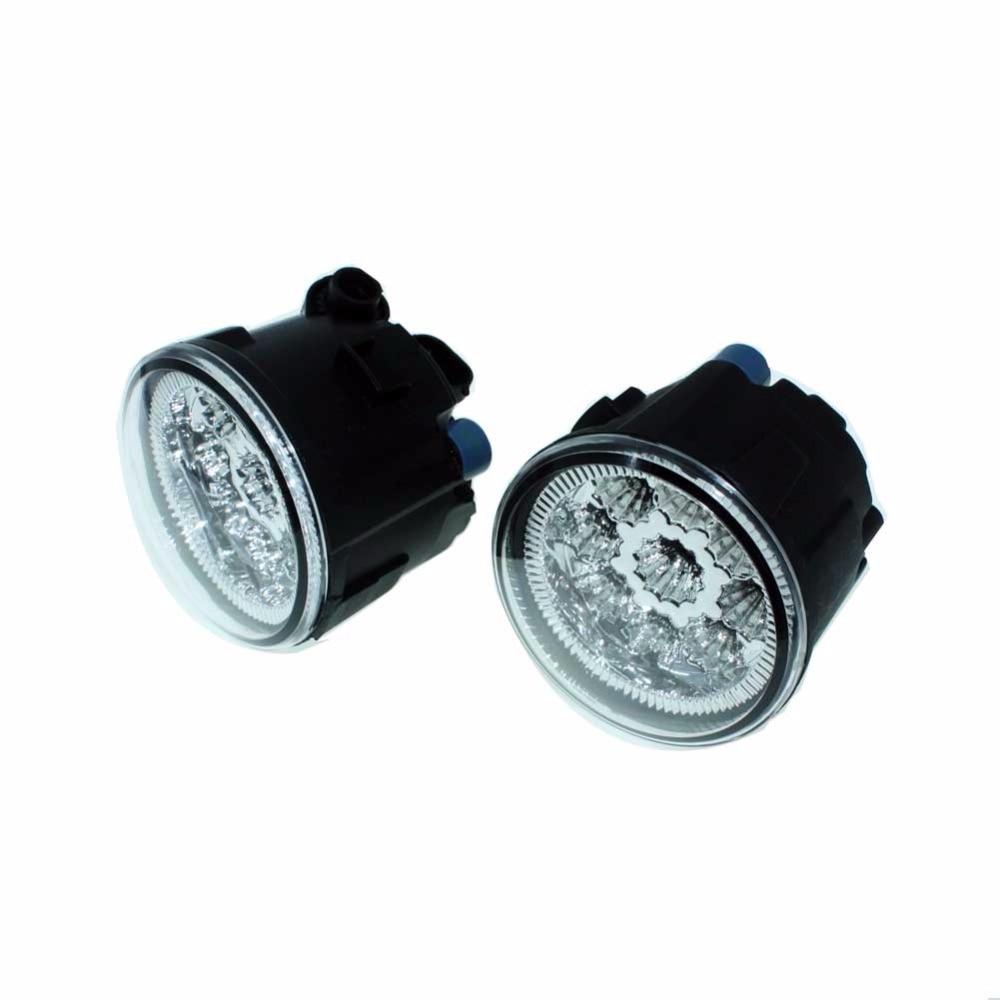 2pcs For NISSAN Tiida Hatchback C11X 2007-2010 2011 2012 Car Styling Front Fumper LED fog Lights high brightness fog lamps H11 for nissan tiida saloon sc11x 2006 2012 car styling fog lights halogen lamps 1set 26150 8990b