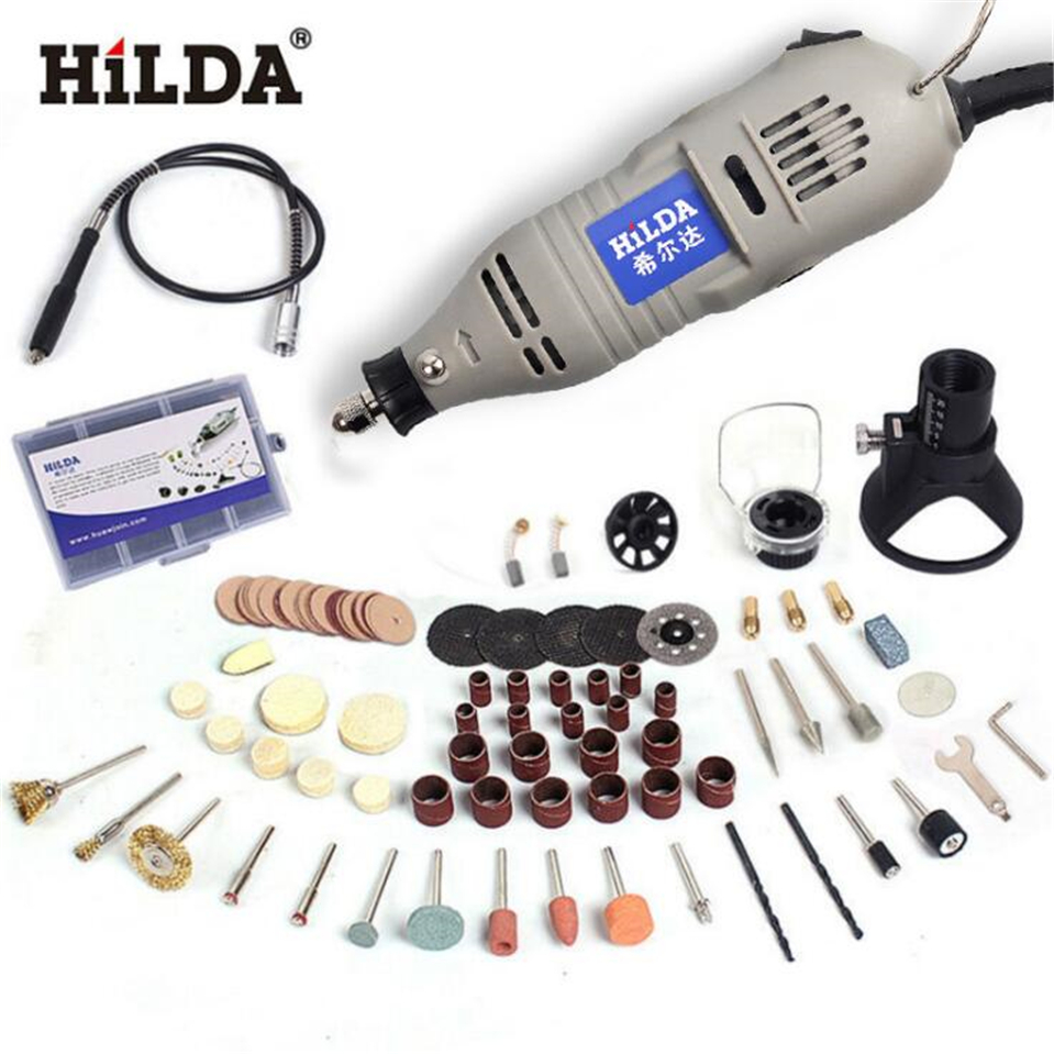 Mini perceuse électrique HILDA 150W pour Dremel avec 6 positions à vitesse Variable outils rotatifs de Style Dremel Mini outils électriques de meulage
