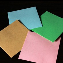 Free shipping 1Lot=1000piece 10cm square small paper envelopes small cards / invitations / membership card holding 6 colors