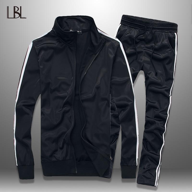 LBL Striped Mens Set Autumn Slim Tracksuit Men Jogging Spring Sportswear Jacket Pants Two Piece Sets Outwear Brand Clothing 5XL