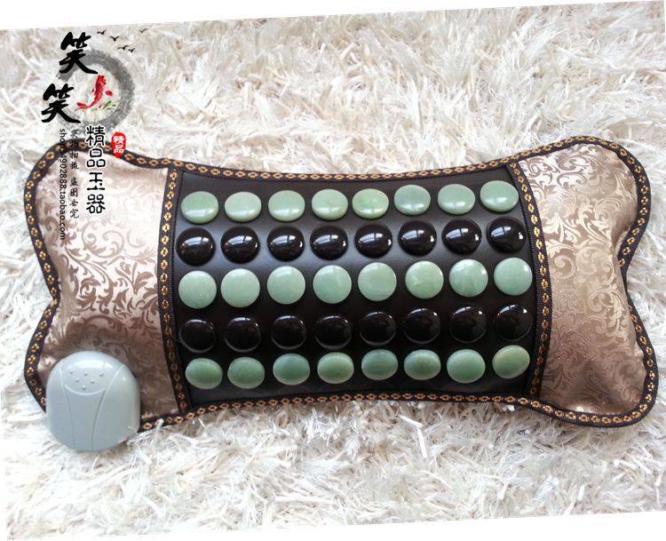 Jade Physical Therapy Cushion Germanium Tourmaline Health Heated Neck Electric Heat Pillow Health Care Pillow Free Shipping best selling korea natural jade heated cushion tourmaline health care germanium electric heating cushion physical therapy mat