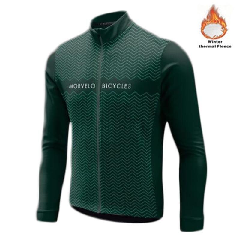 Bike-Clothing Bicycle-Wear Morvelo Long-Sleeve Fleece Maillot Winter Ropa-Ciclismo Hombre