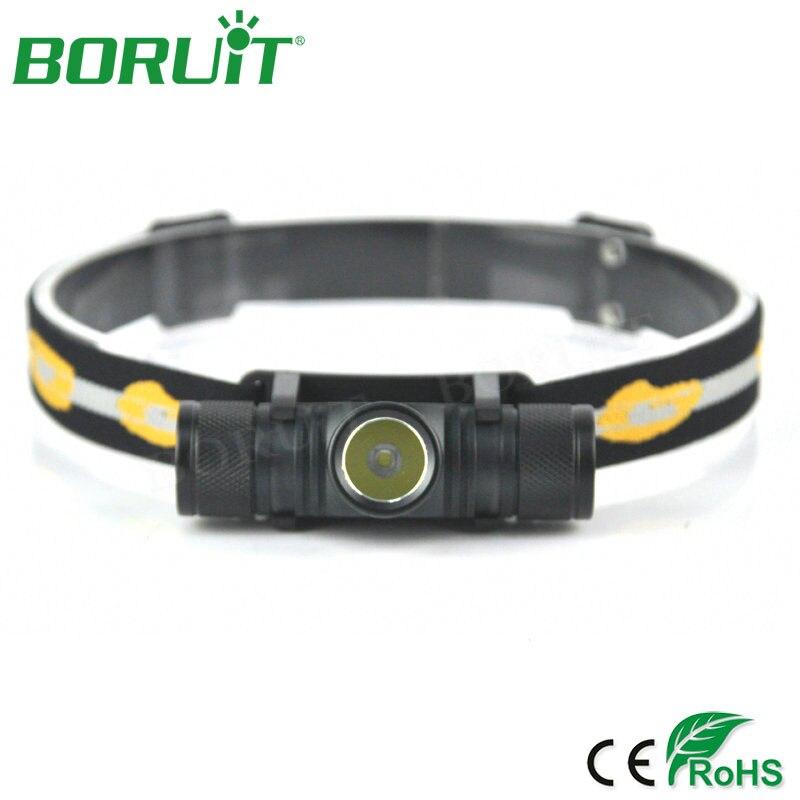 BORUiT XM-L2 Proiettori A LED Flashlight 4 Modalità 1000lm Ricaricabile Fari Caccia di Campeggio Testa Della Torcia Corsa Bicicletta HA CONDOTTO Le Luci