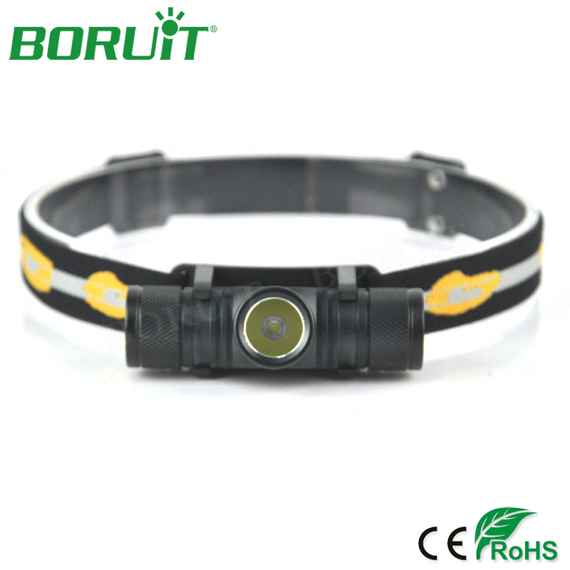BORUiT XM-L2 LED linterna del faro de 6 modos 1000lm recargable faros Camping caza linterna de cabeza corriendo ciclismo luces LED
