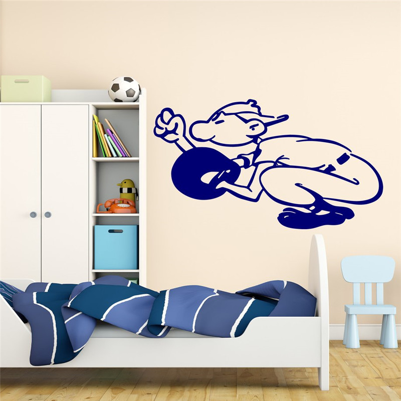 Baseball Catcher Ball Vinyl Decal Wall Sticker Sports Boy Bedroom American Game Wall Decal For Teens
