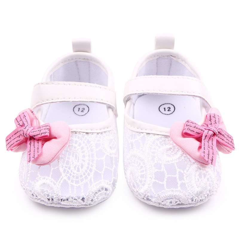 Sweet Newborn Baby Infant Toddler First Walkers Big Flower Shoes Princess Ballet Dress Soft Soled Anti-slip Footwear Shoes