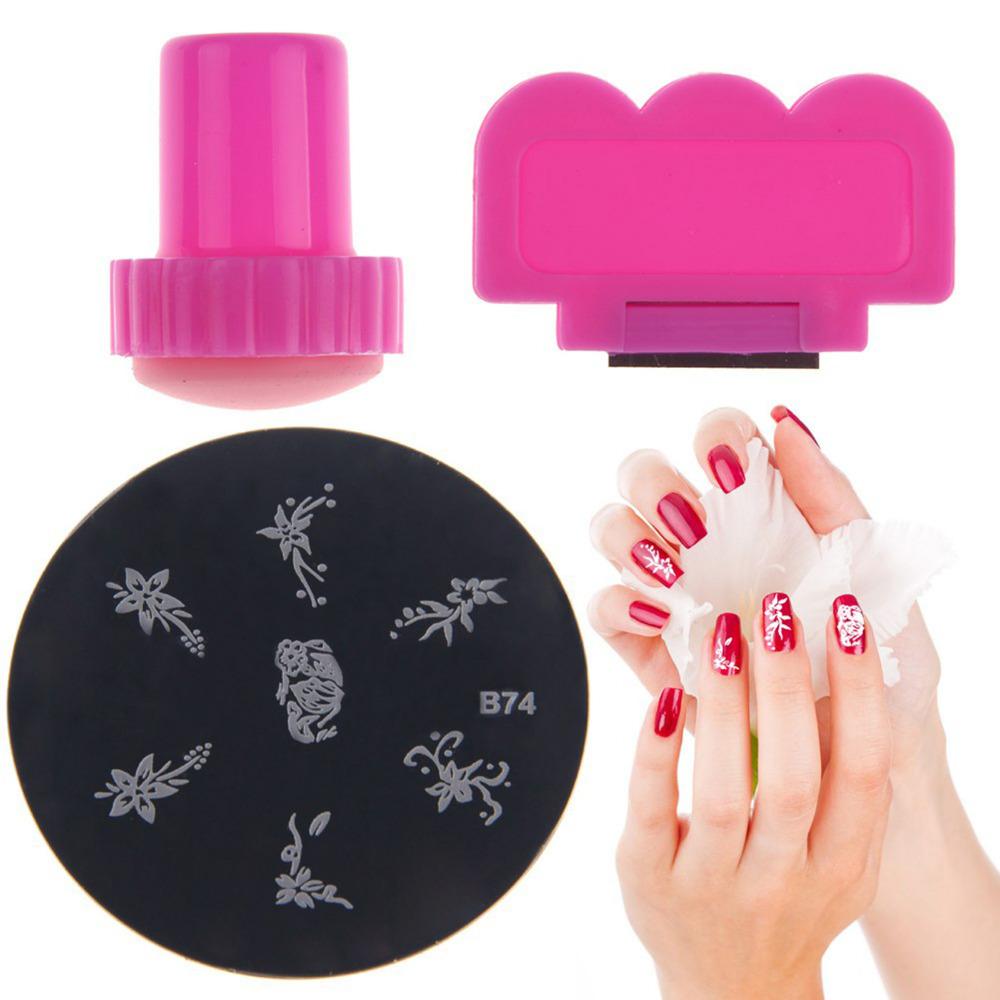 ELECOOL 3pcs/set Manicure Template Nail Art Seal Image Stamping ...