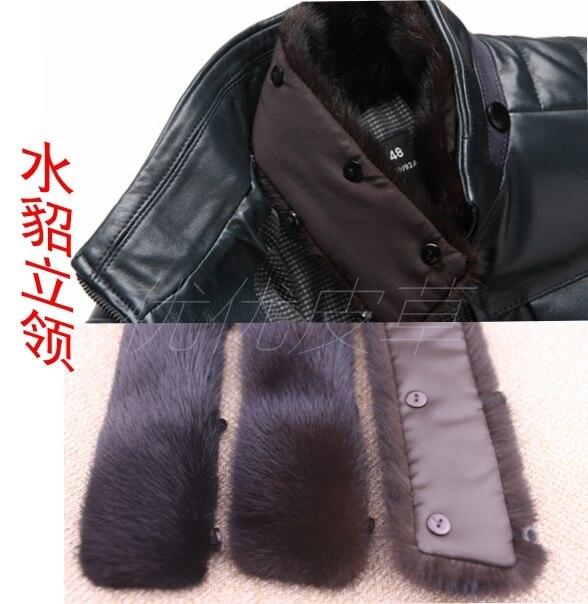 Мужской норки волосы стоять воротник ник одежды DIY пальто воротник украшения ник пальто меховым воротником коричневого blakc зимний ветер предотвратить шарф