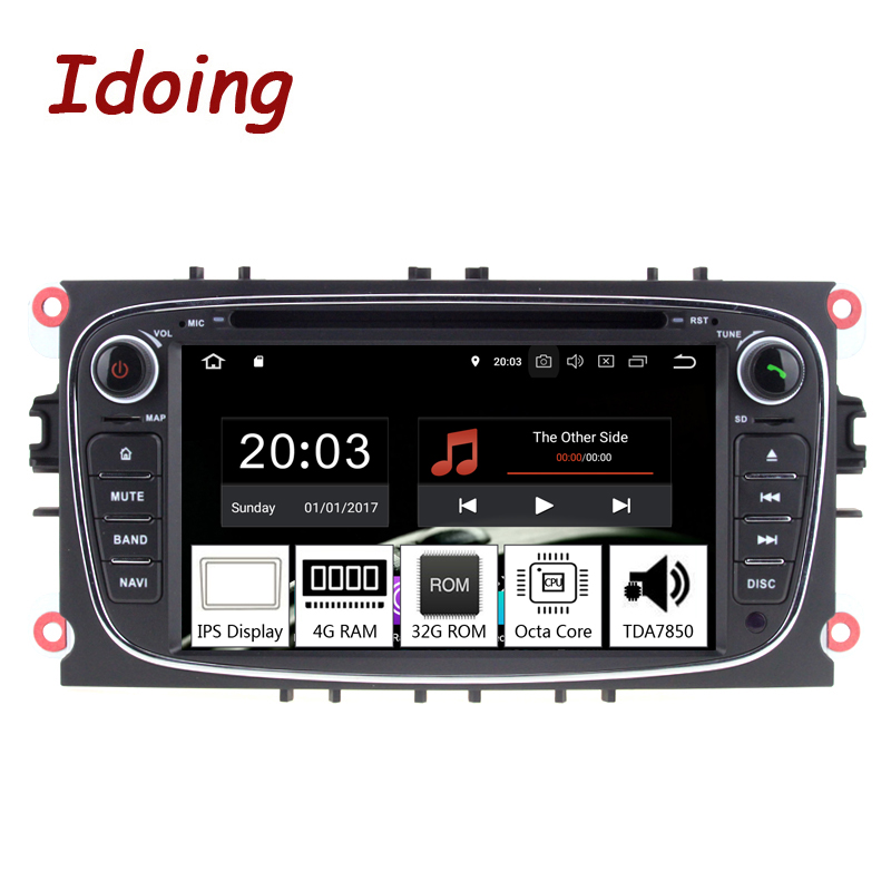 Idoing 7 2Din Andriod 9 0 Car Radio DVD Multimedia Player For Ford Focus Mondeo PX5