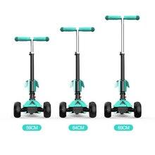 Высокое качество регулируемая высота широкая шина 4 Колеса детский скутер