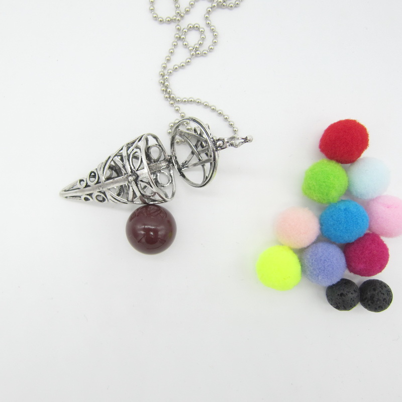 2017 New Interesting Ice Cream Shape DIY Openable Locket Mexician Harmoney Ball Chime Sounded Necklace for Prenatal Education