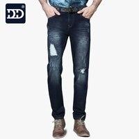 41 52 Size 2016 Customized Jeans Men Big Jeans Men Stretch Deep Blue Men Jeans Famous
