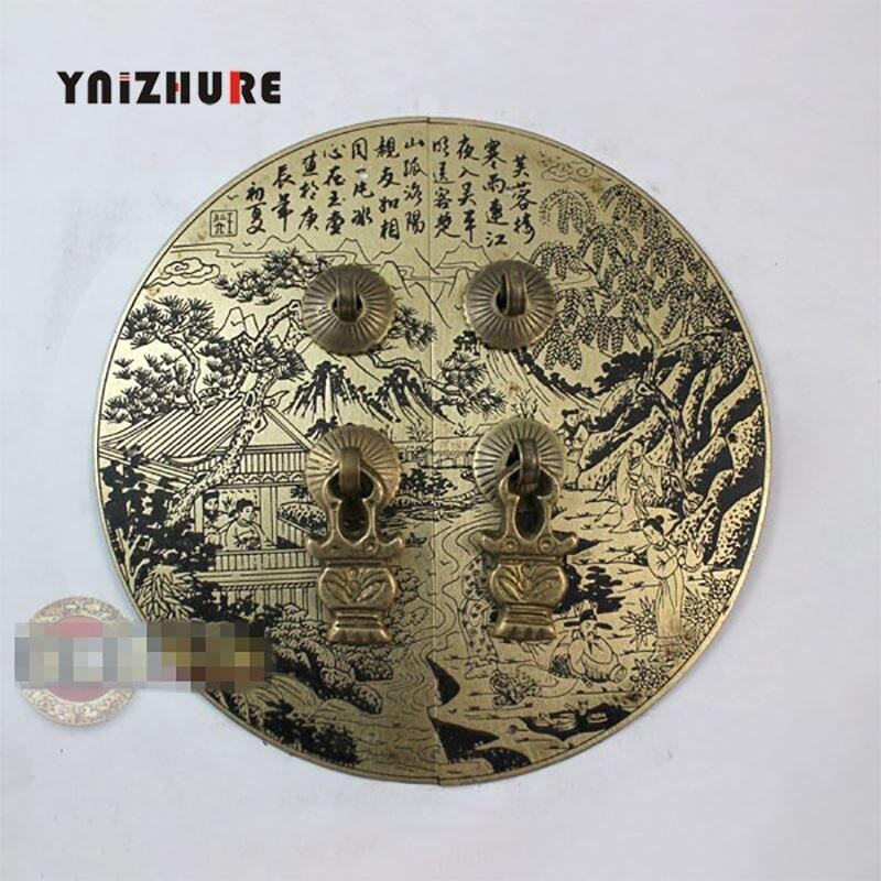 150mm Antique cuivre armoire porte poignée décoration tiroir poignée matériel meubles accessoires ajouré dentelle noir Bronze