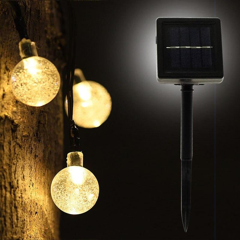 FGHGF New 50 LEDS 10M Crystal ball Solar Lamp Power LED String Fairy Lights Solar Garlands Garden Christmas Decor For Outdoor