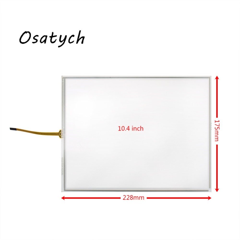 New 10.4 Inch 4 Wires For KORG OASYS 76 88 Resistive Touch Screen Glass Monitor Replacement 228*175mm