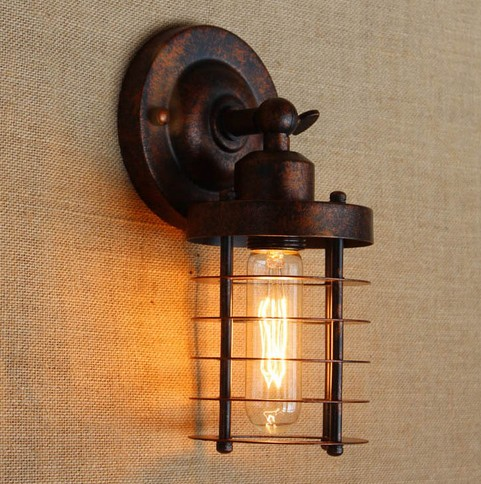 Antique Indoor Wall Sconces :  Loft Style Edison (?)_/? Wall Wall Sconce Vintage Wall Lamp For Home ? Antique Antique ...