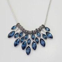 2016 New Trendy High Classic FashionWomen Nice Blue Horse Eye Zircon Crystal Charm Collar Choker Necklace