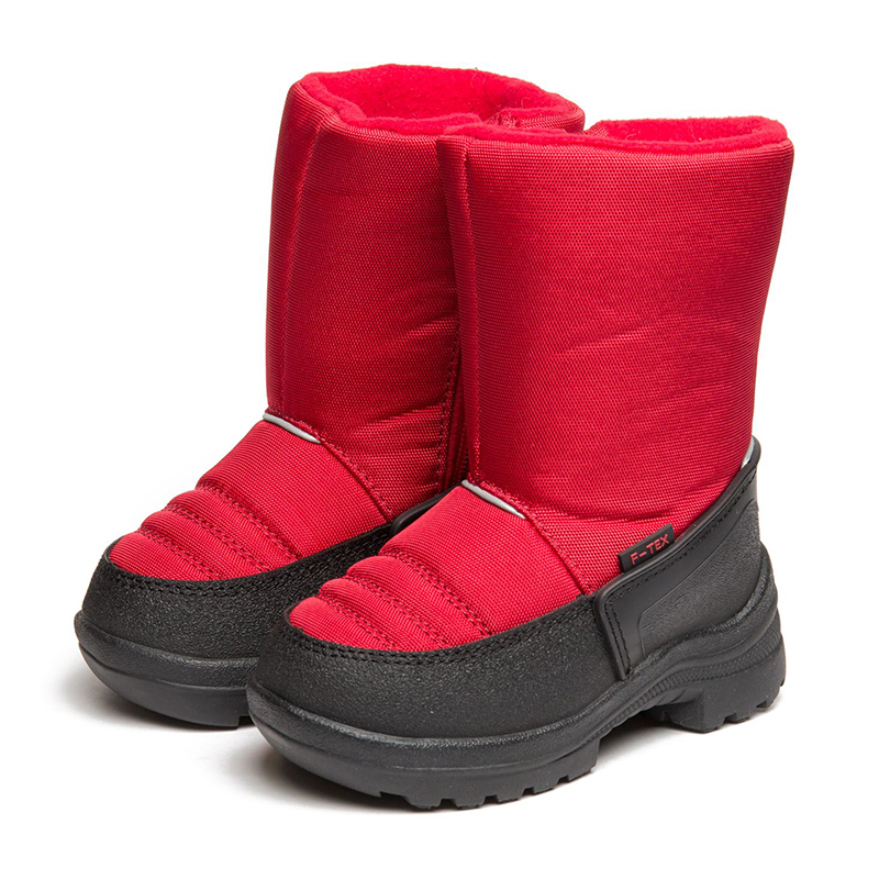 FLAMINGO Winter Orthotic Arch Waterproof Wool Warm High Quality Kids Shoes Anti-slip  Size 23-28 Snow Boots for Girl 82M-QK-0924