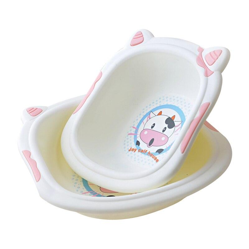 Cheap big size wash tub cute cow washing basin plastic baby ...