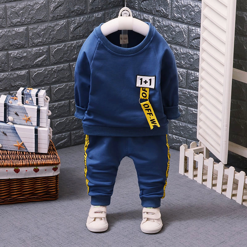 Toddler Tracksuits Spring Autumn Children Boys Girls Clothes Baby Cotton Full Sleeved T-shirt Pants 2pcs Sets Kids Clothing 2016 new children s clothing boys long sleeved t shirt large child bottoming shirt spring striped shirt tide