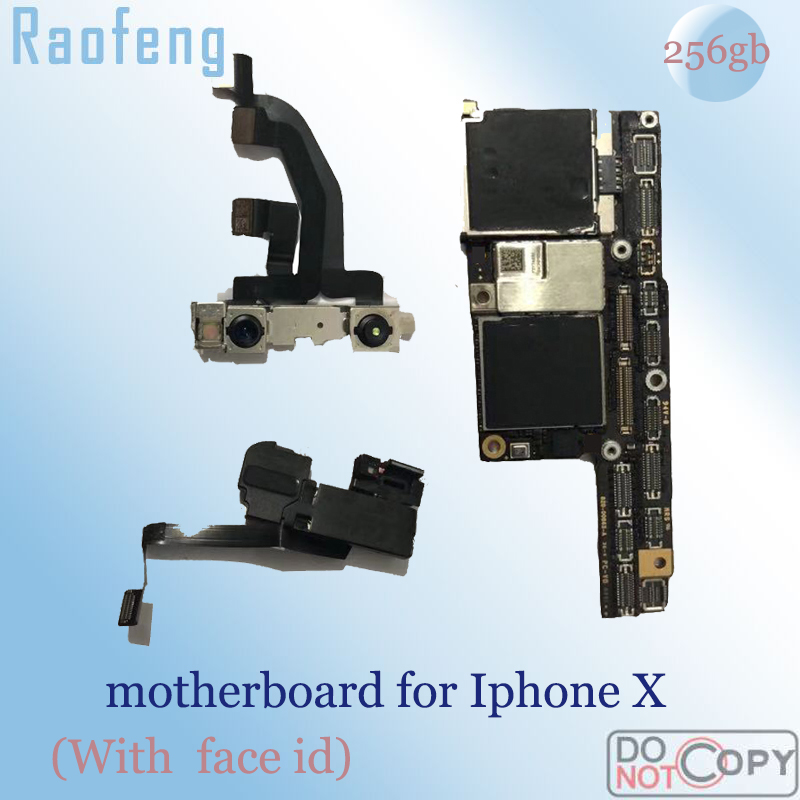 Raofeng iPhone with Face-Id Mainboard 256GB for X High-Quality Unlocked Full-Chips