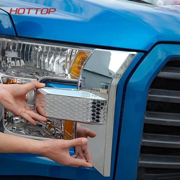 Molde Exterior parrilla frontal luz frontal antiniebla lámpara párpados pegatinas ajuste para Ford F150 - 4