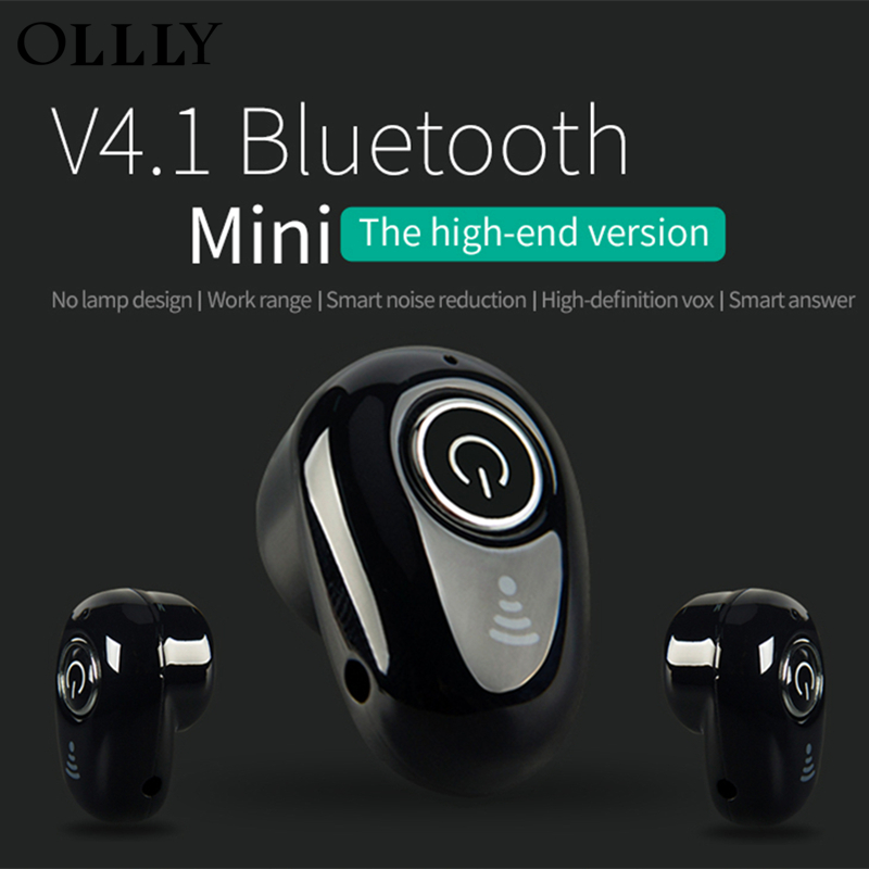 OLLLY Bluetooth Headset Wireless Invisible Earphone Car Headset with Mic and USB Charging Port for iPhone and Android Devices bluetooth earphone mini wireless stereo earbud 6 hours playtime bluetooth headset with mic for iphone and android devices