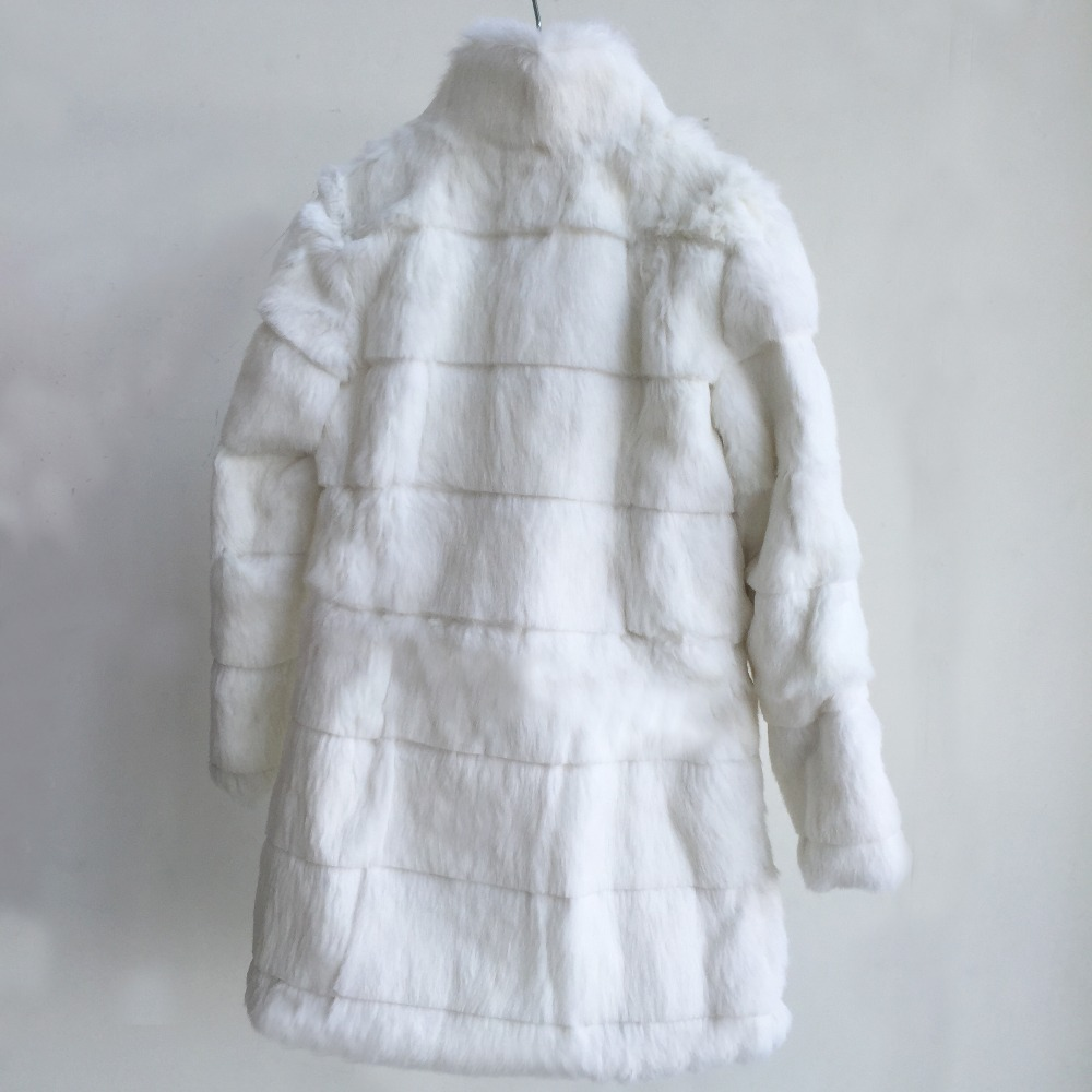 grey Pour white D'hiver Veste Femmes De Red Lapin Fourrure Naturel Col Manteau Pelt Avec purple Nouveau Usine Rayé Mandarin Cut black Les Complet pHOBBw