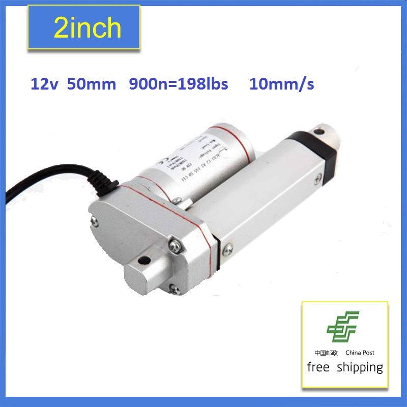 Multi-function Linear Actuator Motor DC12V 50mm Stroke Heavy Duty 900N198lbs 10mm/s-Freeshipping 2 pcs 250mm 10inch stroke heavy duty dc 12v 1500n 330lbs load linear actuator multi function 10