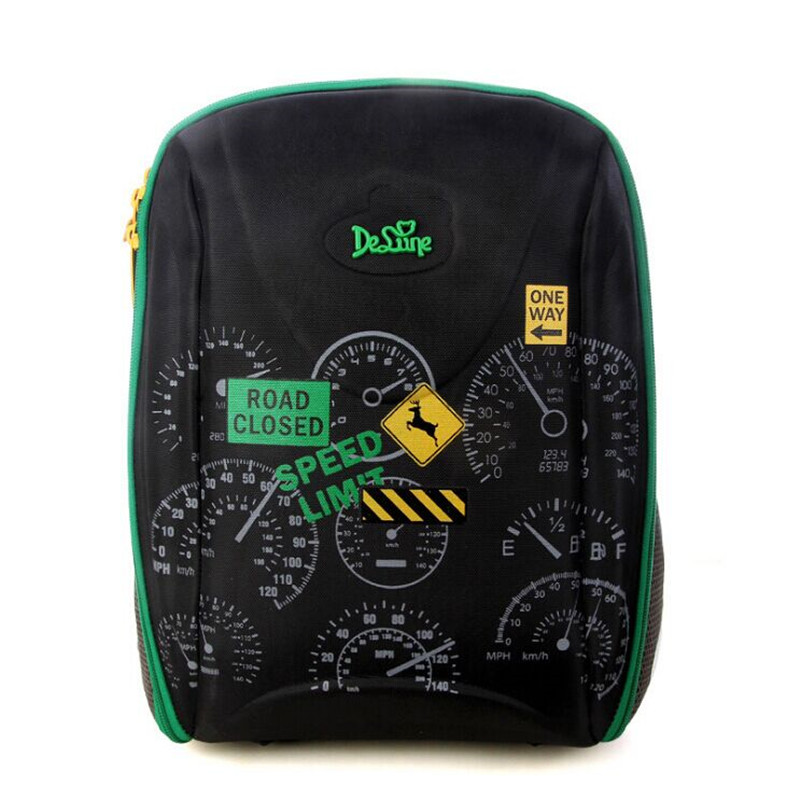 ФОТО Delune high - end schoolbags backpack children 's backpack large capacity can be put A4 textbooks of the original Russian single
