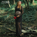 Tamanho grande fotografia adereços rendas vestidos das mulheres grávidas vestido de maternidade gravidez roupa photo shoot dress yl400