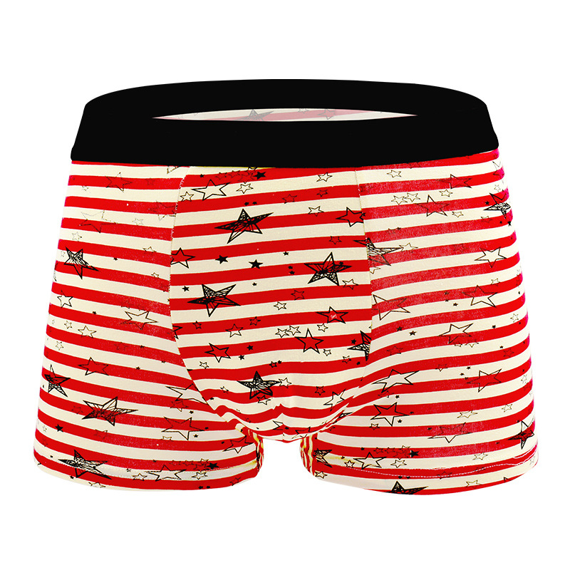 Fulljion Men Boxer Shorts Mens Underwear Home Boxer Cotton Boxer Men Printed Boxer Shorts Cuecas Soft Breathable Mens Underpant