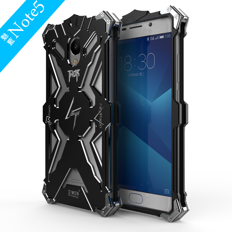 M5 Note Case 5.5 inch SIMON THOR IRONMAN Metal Armor Shockproof Protective Shell CNC Anodized Aluminum Housing Cover