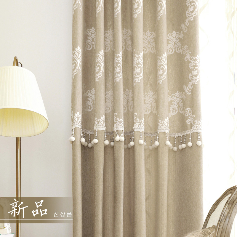 Window Curtain Living Room Modern Curtain Blackout Panel Drapes Chenille Room Divider Cotton