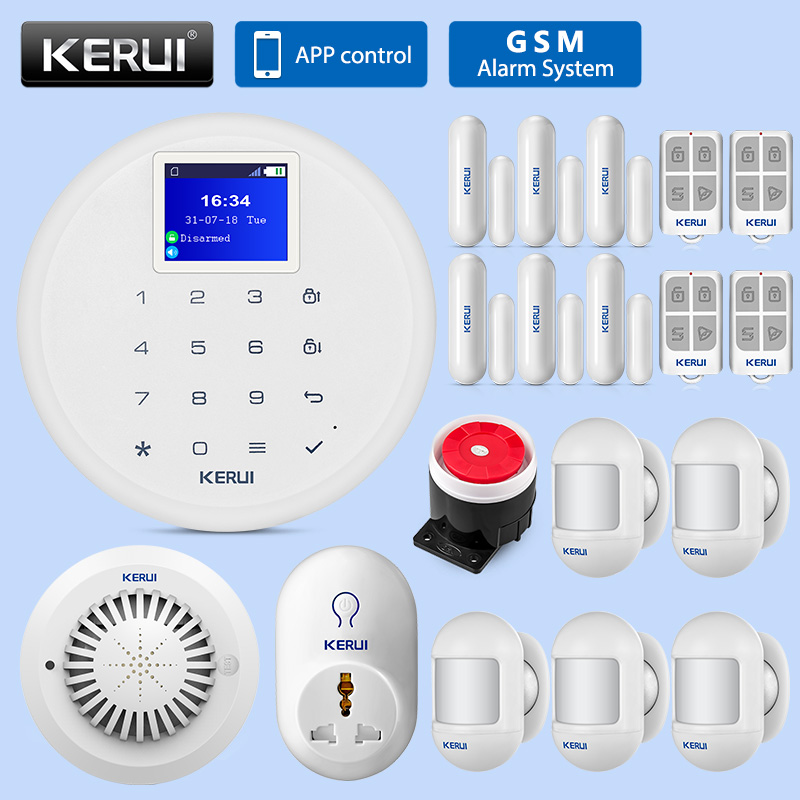 KERUI G17 Wireless Mini Motion Detector DIY Kit Home GSM SMS Burglar Security Alarm System IOS Android APP Remote Control SystemKERUI G17 Wireless Mini Motion Detector DIY Kit Home GSM SMS Burglar Security Alarm System IOS Android APP Remote Control System