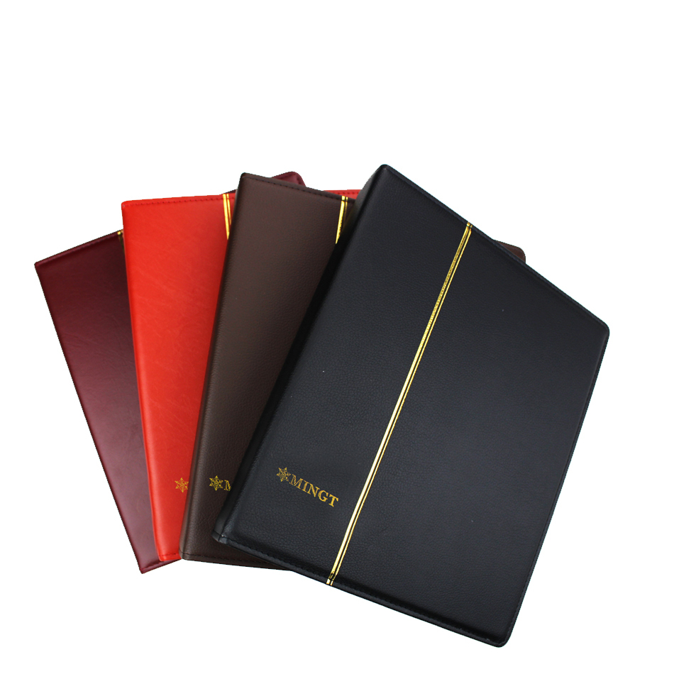 International 3/7/9 Hole leather coin collection album paper money postage stamp commemorative coin Collection album Folder book image