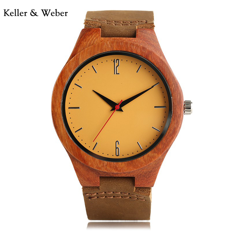 KW Fashion Men Watch Sandalwood Quartz Analog Creative Wrist Watch Nature High Quality Leather Strap Gift Luxury Wooden Watches creative wooden bamboo wrist watch genuine leather band strap nature wood men women quartz casual sport bangle new arrival gift