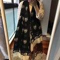 Brand Fashion Women Top Quality Australian Cashmere Scarf Brand Female Rap Luxury Blanket Women Scarve Warm Shawls