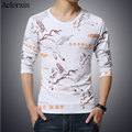 Aelorxin 2017 Men's T-Shirts Spring Autumn Cotton Long Sleeve Men 's Round Neck Pegasus Fashion Printing T - Shirt Oversize 5XL