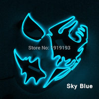 New Arrival Neon Led Bulb EL Wire Lamp Twinkling Led Light Mask For Carnival Christmas Halloween