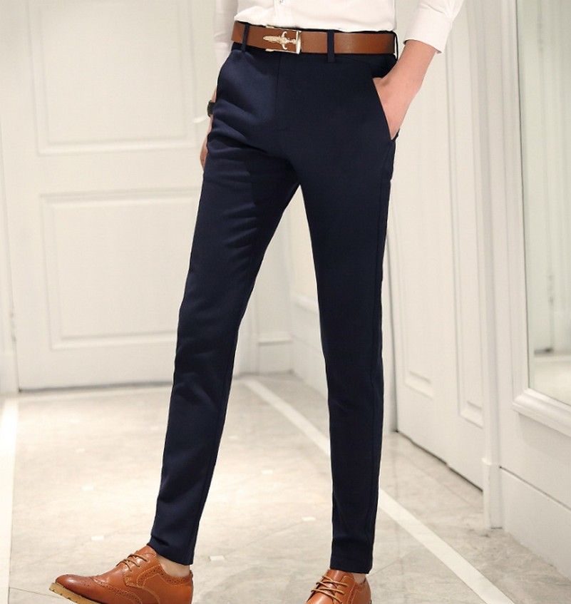 Online Cheap Skinny Dress Pants Men Group