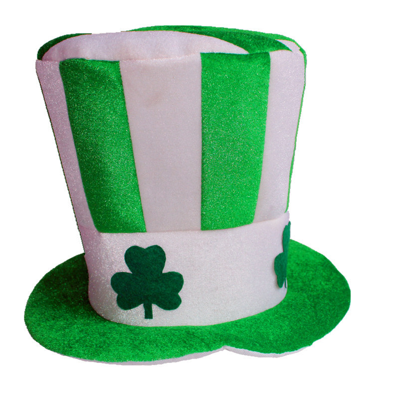 New Arrival Hats for St Patricks Day Lucky Charm Clover Green Hat Costume Accessories Irish Fun Party Celebration Cap